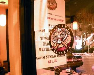Front Door of Pastini Pastaria