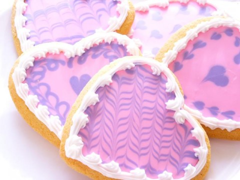 Frosted gluten-free Sugar Cookies for Valentines Day