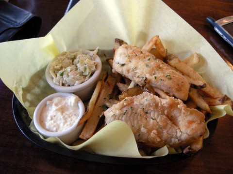 Gluten Free Fish and Chips at Virgo and Pisces