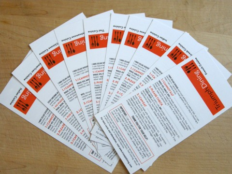 Triumph Dining Gluten-Free Cards