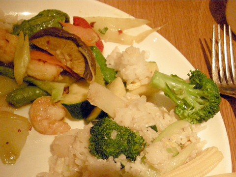 gluten-free curry claypot with shrimp