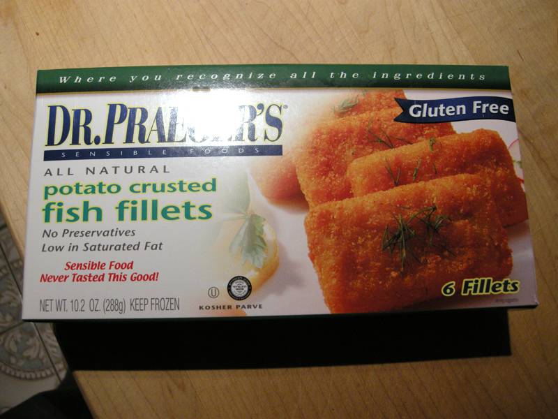 Product review gluten free fish sticks and energy bars for Dr praeger s fish sticks