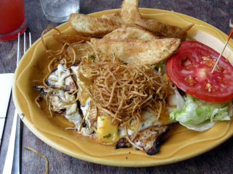 Beaches Restaurant Grilled Chicken and Fries