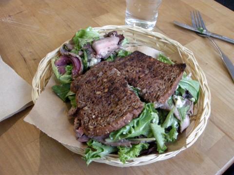 Gluten-free steak sandwich