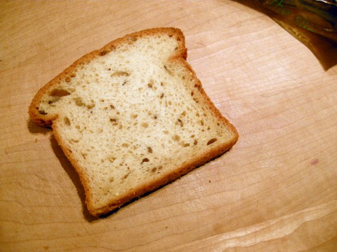 Slice of Rudi's Gluten-Free wholegrain bread