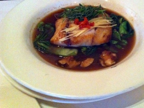 Roasted Sea Bass in Broth