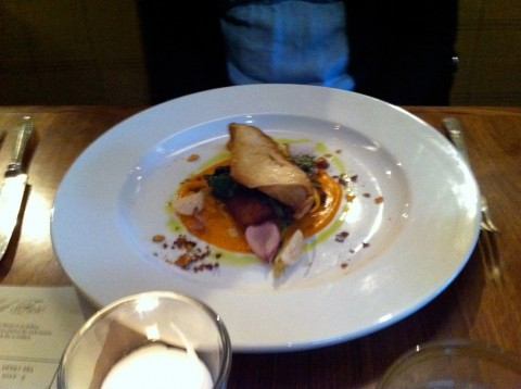 Abalone Mushroom on Polenta - gluten free