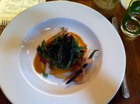 Asparagus and new potato hash