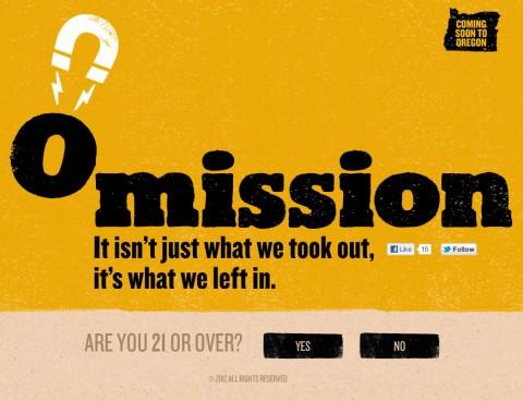 Omission Beer Website