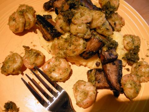 Gluten-Free Pesto Shrimp Dish