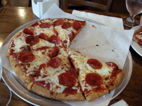 Gluten-free pizza at Virgo and Pisces