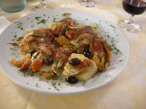 Sardines and Potatoes with Tomato Sauce
