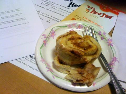 Gluten-free cinnamon roll