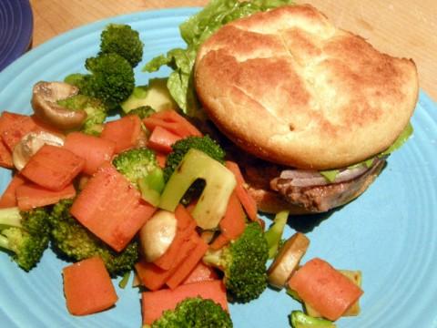 Gluten-free burger