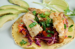 Cook this gluten free ling cod fish tacos dr samantha for How to cook cod for fish tacos