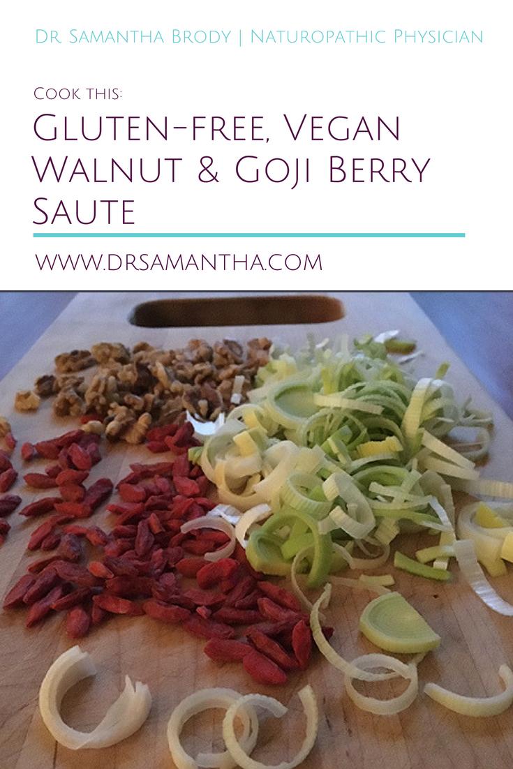Cook this: Gluten-free, Vegan Walnut & Goji Berry Saute