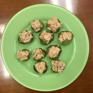 Great snack: Tuna Salad & Pickles