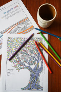 stress-less coloring pages