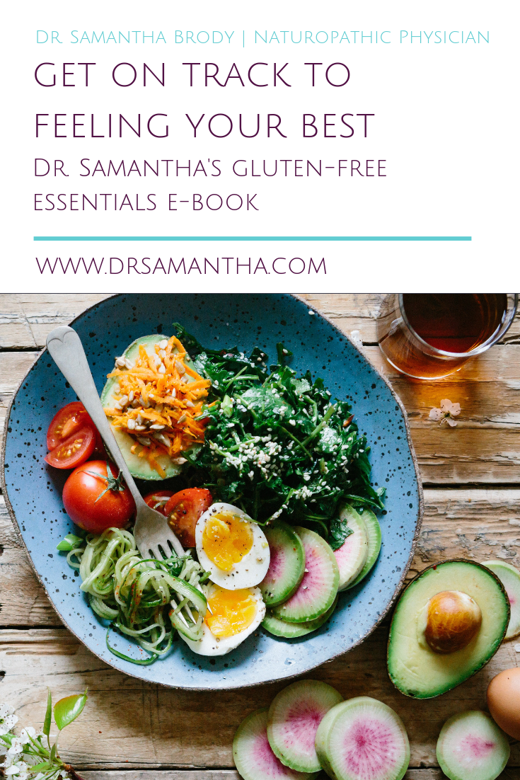 Dr. Samantha's Gluten-Free Eseentials Book | What You Need to Know About Going Gluten-Free